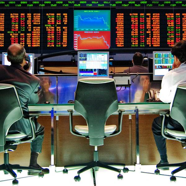 Stock market screens